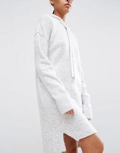 ASOS Hoodie Sweater Dress in Knit