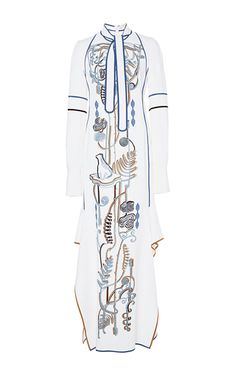 Embroidered Long Sleeve Cady Dress by PETER PILOTTO for Preorder on Moda Operandi