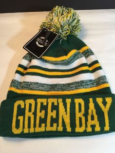 pretty nice 4b964 618c3 New York Headwear Green Bay Packers Knit Pom Hat Gift   eBay Packers Hat,  Green