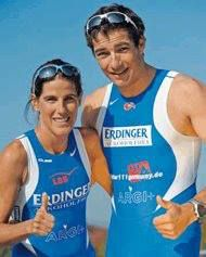"Nicole and Lothar Leader swear by ARGI+. These two pro-athletes are active every day and train for up to 30 hours a week. ""We always take it after training for re-energising"", says Lothar Leder, who has professionally taken part in triathlons for 20 years. ""It helps the blood flow and you feel fit again much more quickly after playing sport""."