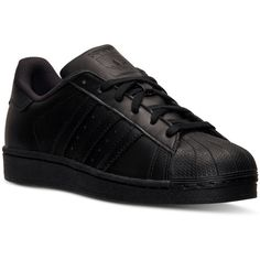 adidas Men's Superstar Casual Sneakers from Finish Line (1,480 MXN) ❤ liked on Polyvore featuring men's fashion, men's shoes and men's sneakers