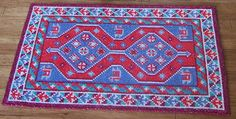 Miniature Hand Stitched Rug for your Dolls House, Shiraz Persian Carpet in 1:12 Scale, Dollhouse Fireside Rug, UK Seller, Kitchen Hearth Rug