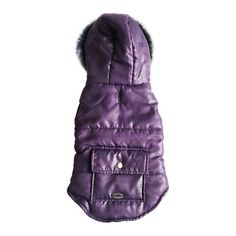 Royal Animals Purple Fleece Lined Puffer Coat with Faux Fur Trim and Pocket Royal Animals, Dog Coats, Pet Clothes, Fur Trim, Pet Care, Your Pet, Faux Fur, Dressing, Pocket