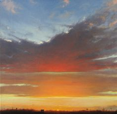 """Brian Martin, """"Sunset at Sam's"""" - 21x21, oil on canvas -- at Principle Gallery"""
