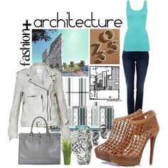 fashion + architecture, created on #polyvore