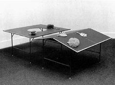 Fluxus table tennis by George Maciunas: