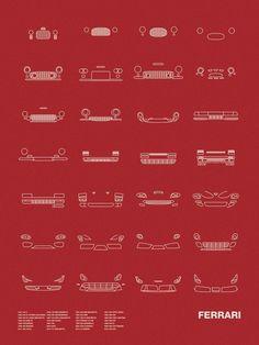 Auto Icon Screen Print Series: Ferrari #Ferrari