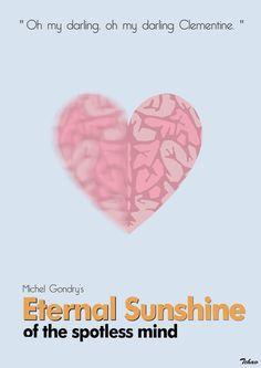 Eternal Sunshine of the Spotless Mind (2004) ~ Minimal Movie Poster by Adrien Chavant #amusementphile