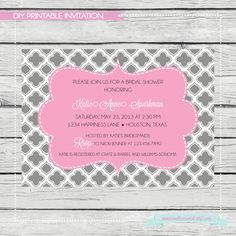 Fancy Quatrefoil Bridal Shower Invitation  by SouthernSwish, $15.00