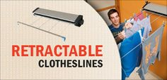 Retractable or Adjustable Clotheslines Clotheslines, Here And Now, Shopping Hacks, Corner, Colours, Life Hacks Shopping, Laundry Lines