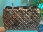 Authentic $428 NWT Michael Kors Nickel Susannah Quilted Leather Large Bag Tote