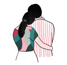 French illustrator Lorraine Sorlet's drawings bring love, emotions and femininity up in all their facets. Bright colours, simple elements and clean lines Couple Sketch, Couple Drawings, Couple Art, Art Drawings, Art Sketches, Art And Illustration, Mermaid Drawings, Arte Sketchbook, Arte Pop