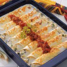 Makeover Creamy Halibut Enchiladas Recipe from Taste of Home :: http://pinterest.com/taste_of_home/