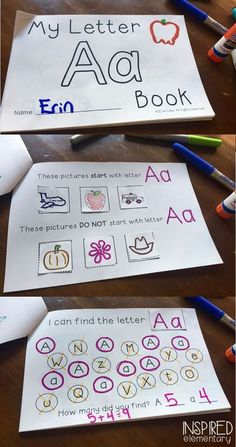 Freebie! Teach the letter of the week with these FUN and INTERACTIVE Alphabet Activity Books! Perfect for small group instruction, or as an independent center activity.