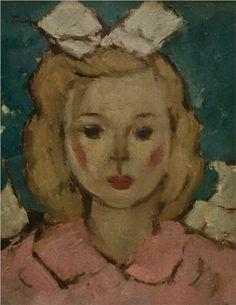 Nicolae Tonitza (Romanian: 1886-1940)   Girl in Pink