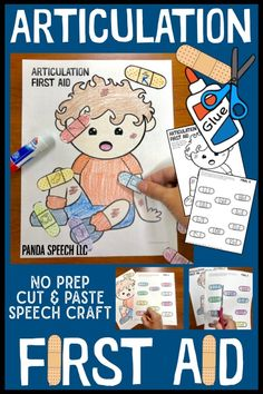 Articulation First Aid: A Speech Therapy Craft Activity Articulation Activities, Speech Therapy Activities, Language Activities, Shape Activities, Articulation Therapy, Teaching Activities, Educational Activities, Preschool Speech Therapy, Speech Language Therapy
