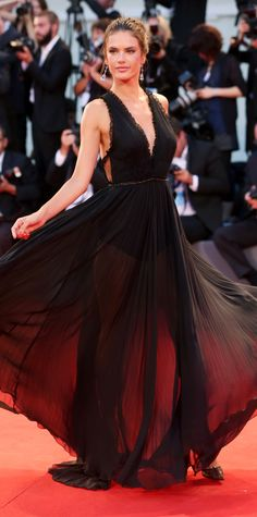 Alessandra Ambrosio's Red Carpet Style - In Philosphy, 2015 from InStyle.com