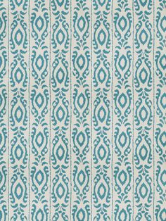Turquoise Ikat Fabric by the Yard - Modern Upholstery Ikat - Turquoise Drapery Fabric