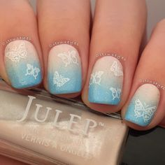 Thyroid Disease Awareness month mani using Julep Zora, Jeanne, and Nicolette