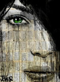 "Saatchi Art Artist Loui Jover; Drawing, ""green light"" #art"