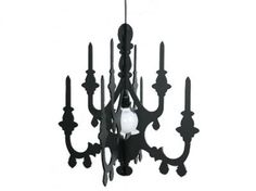 DIY Chandelier but in either white or silver