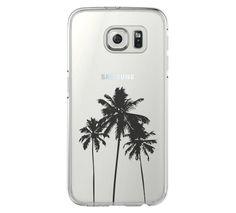 Palm Tree California Samsung Galaxy S6 Edge Clear Case S6 Case S5 Tran – Acyc