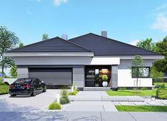 Projekt domu APS 401 133,40 m² - koszt budowy - EXTRADOM My House Plans, House Layout Plans, Family House Plans, Luxury House Plans, Modern House Plans, Modern Family House, Modern Bungalow House, Small House Design, Modern House Design