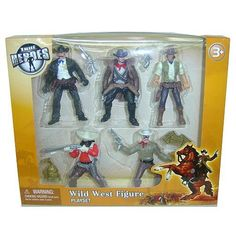 True Heroes Wild West Action Figure Playset 5-Pack by Toys R Us. $8.99. Recommended Age: 3 years and up. With our True Heroes Wild West Action Figure Playset 5-Pack the wild, wild west will come alive through play and adventure! True Heroes Wild West Action Figure Playset 5-Pack includes 5 action figures and accessories, everything needed so that you little cowboy can begin his adventure!Highlighting the real heroes of the past, present and future, True Heroes toy acti...