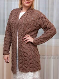 La cinta la trenza de facial e esquema de la el esquema Knit Cardigan Pattern, Sweater Knitting Patterns, Knit Patterns, Baby Knitting, Crochet Coat, Crochet Shirt, Knitwear Fashion, Mohair Sweater, Sweater Design