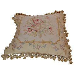 Soft-Hued Aubusson Pillow