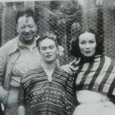 Frida Kahlo, Diego Rivera, Dolores del Rio