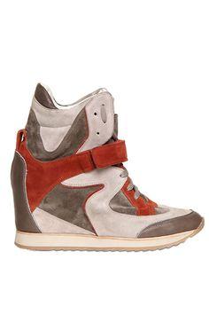 Elena Iachi 70MM suede and calf sneakers, 349, Fall 2012 at luisaviaroma.com