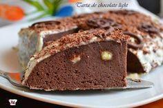 Tarta de chocolate light y fácil y rápida de hacer. ¡Es la tarta perfecta!