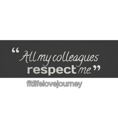 Respect is the golden rule.