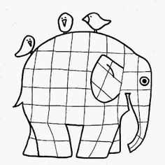 Elmer the Elephant template for you to print for the preschool craft