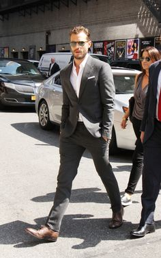 Jamie in NYC #Anthropoid 8/4/16 #ColbertShow via: FiftyShadesEN