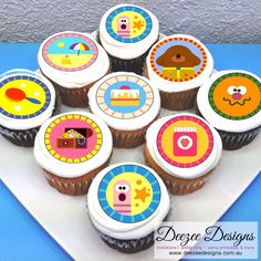 Hey Duggee Edible Icing Cupcake Toppers - - PRE-CUT - Sheet of Using food colouring, we print your design onto an edible icing sheet. It's unavoidable when printing with edible inks onto edible sheets. 5th Birthday Party Ideas, 2 Birthday Cake, 1st Boy Birthday, Edible Cupcake Toppers, Cupcake Icing, Invitation, First Birthdays, Lucas 2, Terrible Twos
