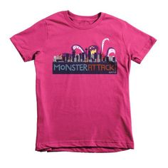 Seattle Attacked by Giant Octopus! - Short sleeve kids t-shirt