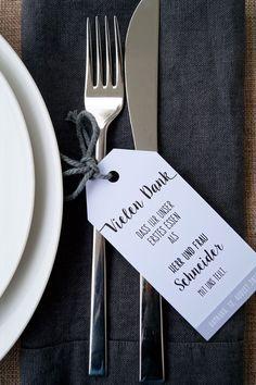 Hochzeitsdeko - 10 Willkommenskarten für die Hochzeit - ein Designerstück von FlitterBOOK bei DaWanda