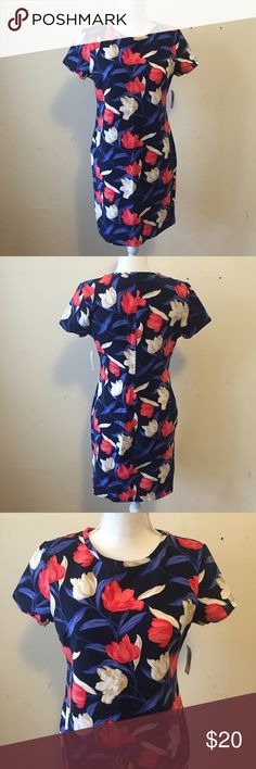 Old Navy Floral Jersey Shift Dress Old Navy floral shifted dress with rounded neck. Short sleeves. Soft, medium weight jersey with added stretch. Slightly fitted through body. Brand new with tags, never worn. Old Navy Dresses Mini