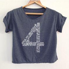 Crop 1 Direction Shirt 1d Tunic One Direction Shirt Women's Clothing Size S M L
