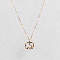 Gold Plated Ella Outline Necklace – Ivory Ella