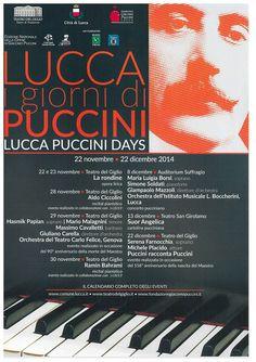 Lucca Puccini days - Lucca I giorni di Puccini | 22 novembre - 22 dicembre 2014