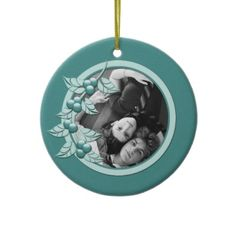 Ornament Teal Holly Berry 1st Christmas