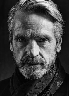 Portrait Photography Inspiration : Photo Repair Wizards Of F Black And White Portraits, Black And White Photography, Portrait Fotografie Inspiration, Photo Repair, Jeremy Irons, Celebrity Portraits, Interesting Faces, Famous Faces, Character Inspiration