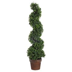 Bring classic English garden style indoors with this charming faux boxwood tree. This organic-inspired accent is a tasteful addition to your entryway or dini...