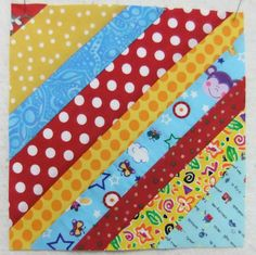 by Alisa and Benjamin   Start by cutting strips of fabric in random widths.  Ours were between 1.25 and 2.5 inches.  This is a great way to ...