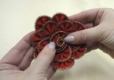 Como fazer Flor de Ziper com tutorial e passo a passo | Cacareco