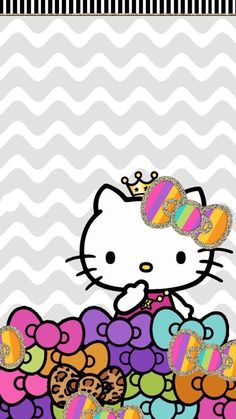 Hello Kitty Backgrounds, Hello Kitty Wallpaper, Wallpaper Iphone Cute, Cellphone Wallpaper, Cute Wallpapers, Wallpaper Backgrounds, Mobile Wallpaper, Kitty Images, Hello Kitty Pictures
