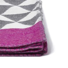 Stockholm Throw - woven in Peru and inspired in Sweden.  Charcoal and Peony